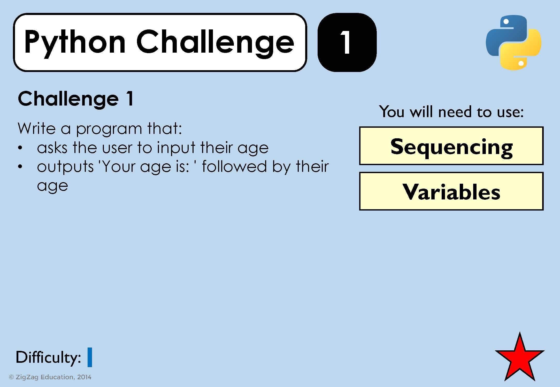 Python Challenges for KS3/4