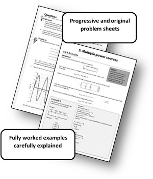 Electricity & Magnetism 'Tricky Topics' Worksheets for A Level Edexcel  Physics